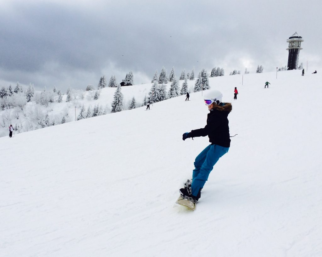 Zweite große Liebe: Snowboarden